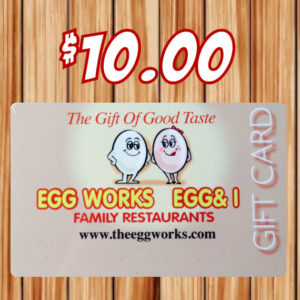 $10 Egg Works Gift Card